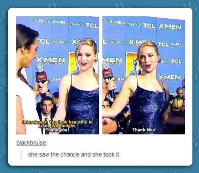 Jennifer Lawrence - Thank Wu!