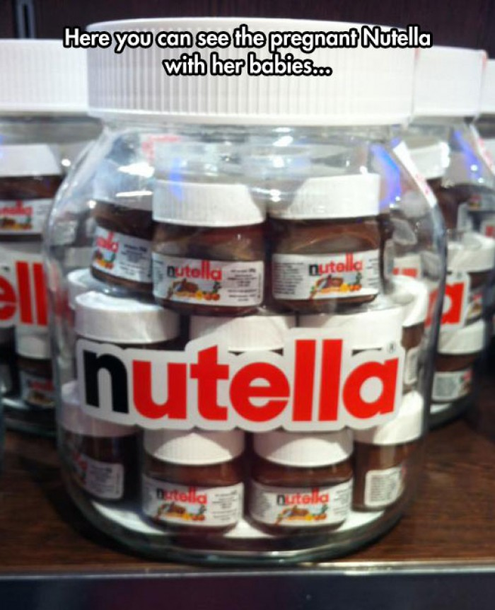 Pregnant Nutella with her babies...