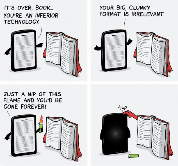 It's over book.... you're an inferior technology.