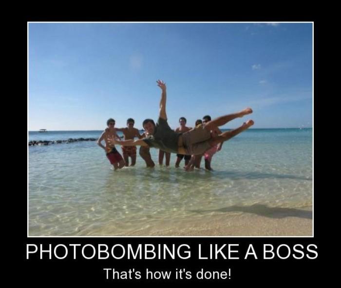 Photobombing like a boss
