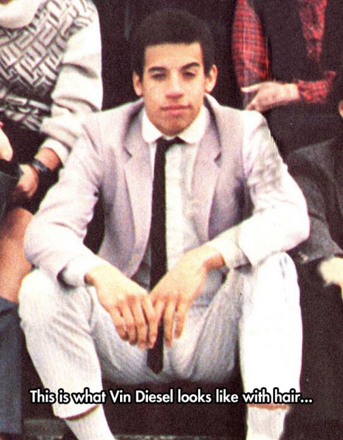 This is what Vin Diesel looks like with hair...