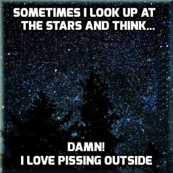 Sometimes I look up at the stars and think...