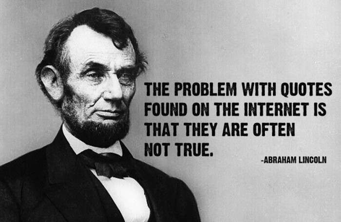 The problem with quotes on internet...