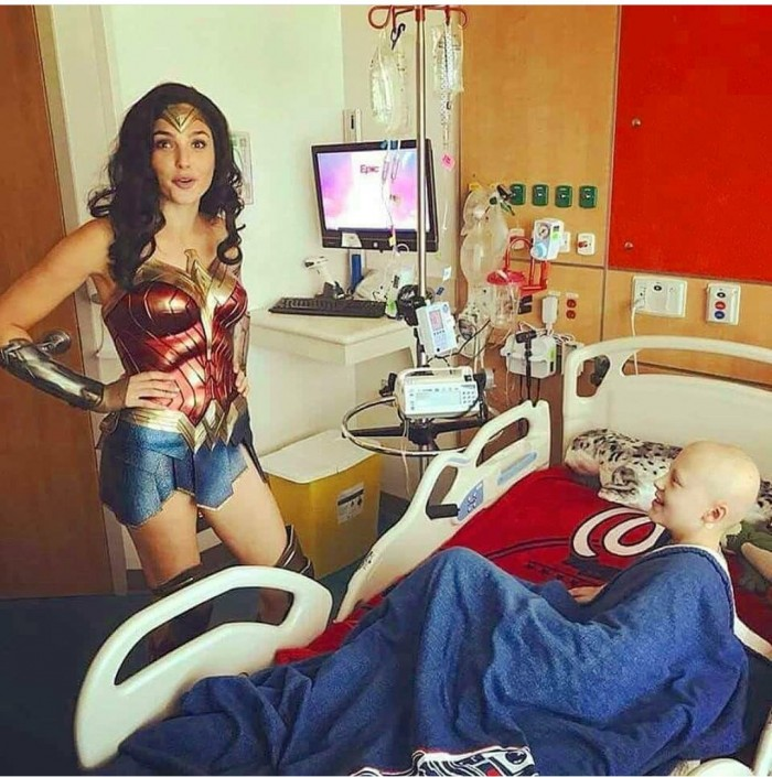 Gal Gadot visiting children's hospital as Wonder Woman