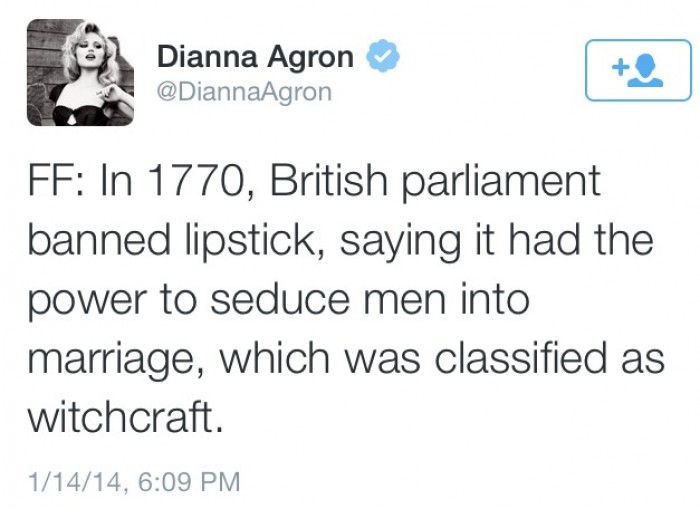 In 1770, British parliament banned lipstick...