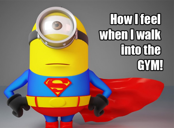 How I feel when I walk into the gym!