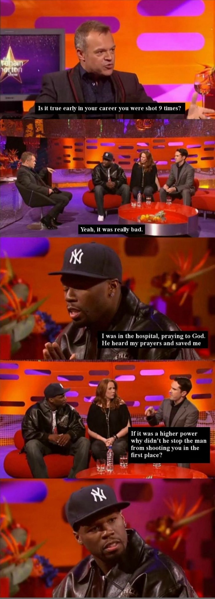 50 Cent and Jimmy Carr
