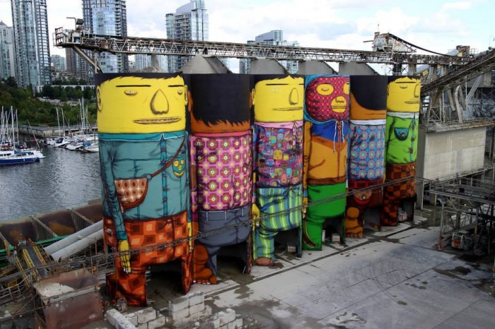 Industrial Silos Converted into Towering Giants by Os Gemeos