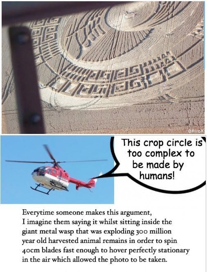 This crop circle is too complex to be made by humans!