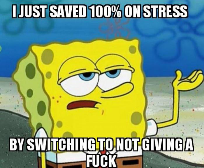 U just saved 100% stress