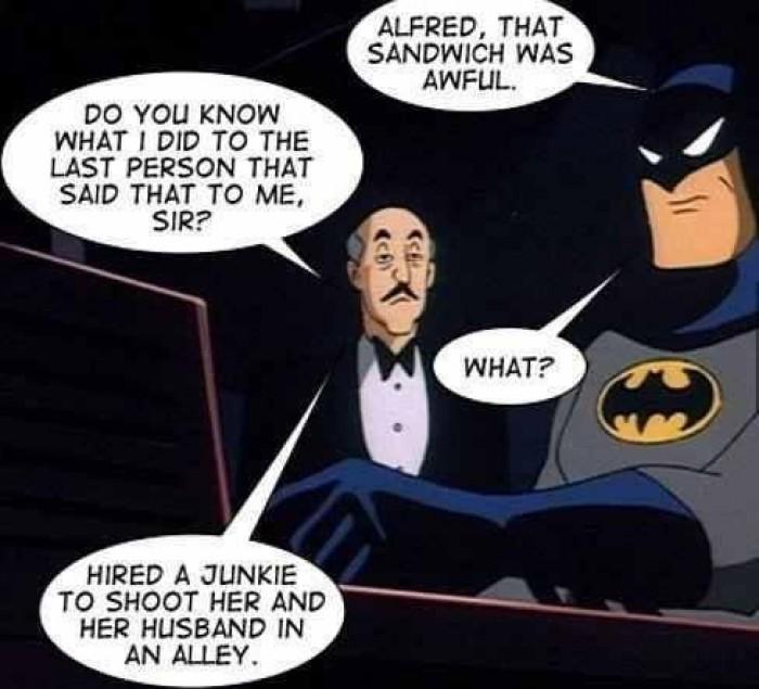 Batman's problem with sandwich