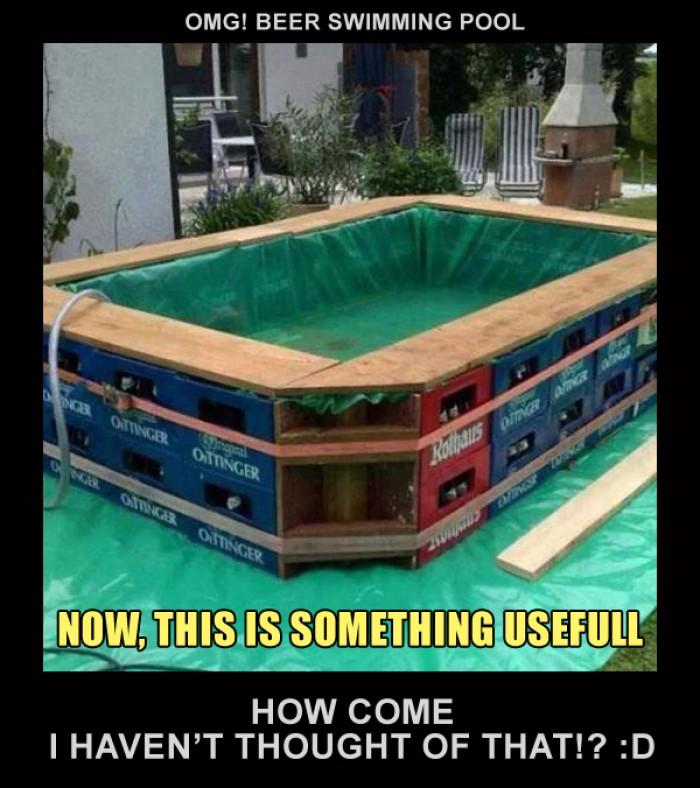Beer swimming pool
