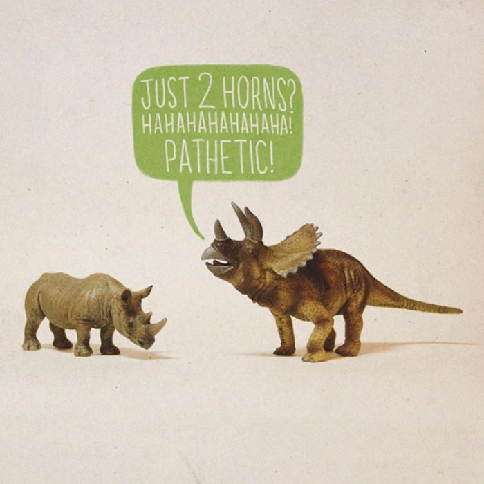 Just 2 horns...ha ha ha pathetic