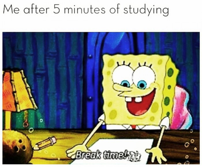 My after 5 min studying!