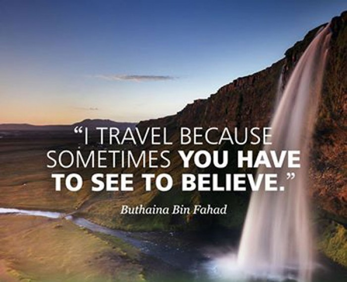 Buthaina Bin Fahad - I travel because...