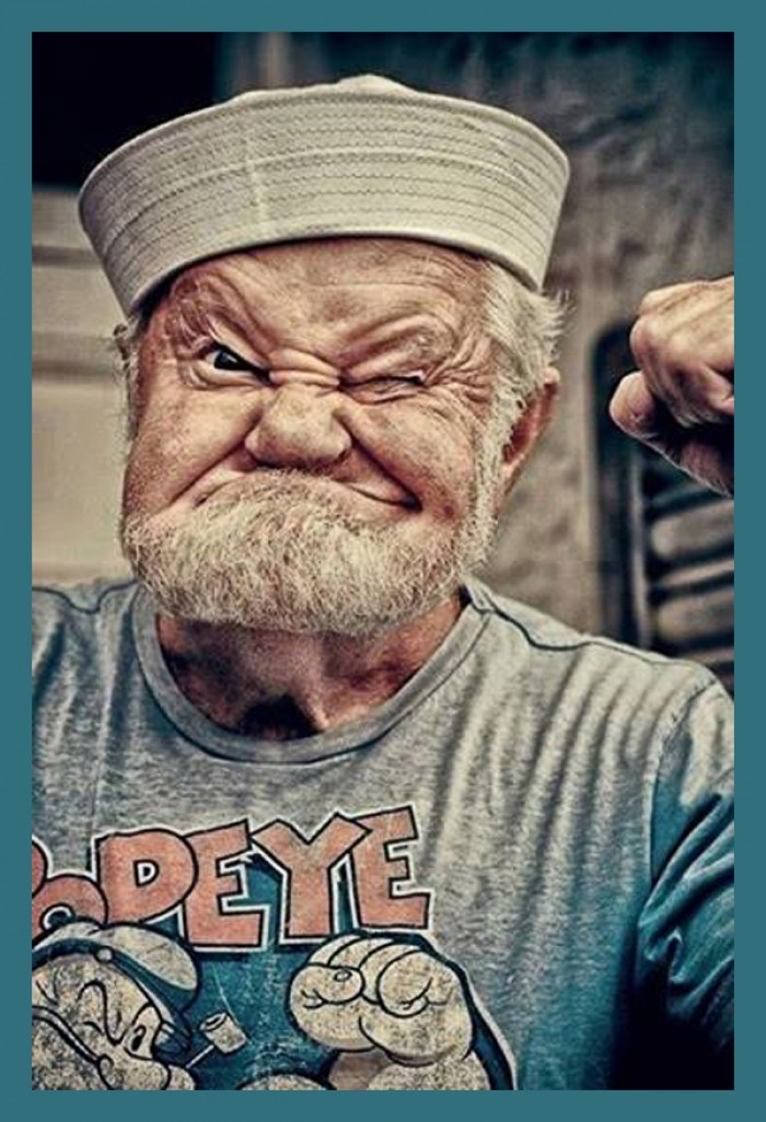 Omg! The real Popeye exists!